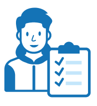 College Student Filing Claim icon